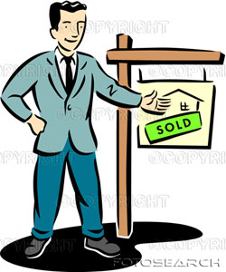 picture of realtor with a sold sign